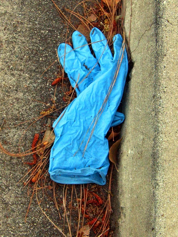 a lost glove photographed by David Ocker in Pasadena California (c) 2014
