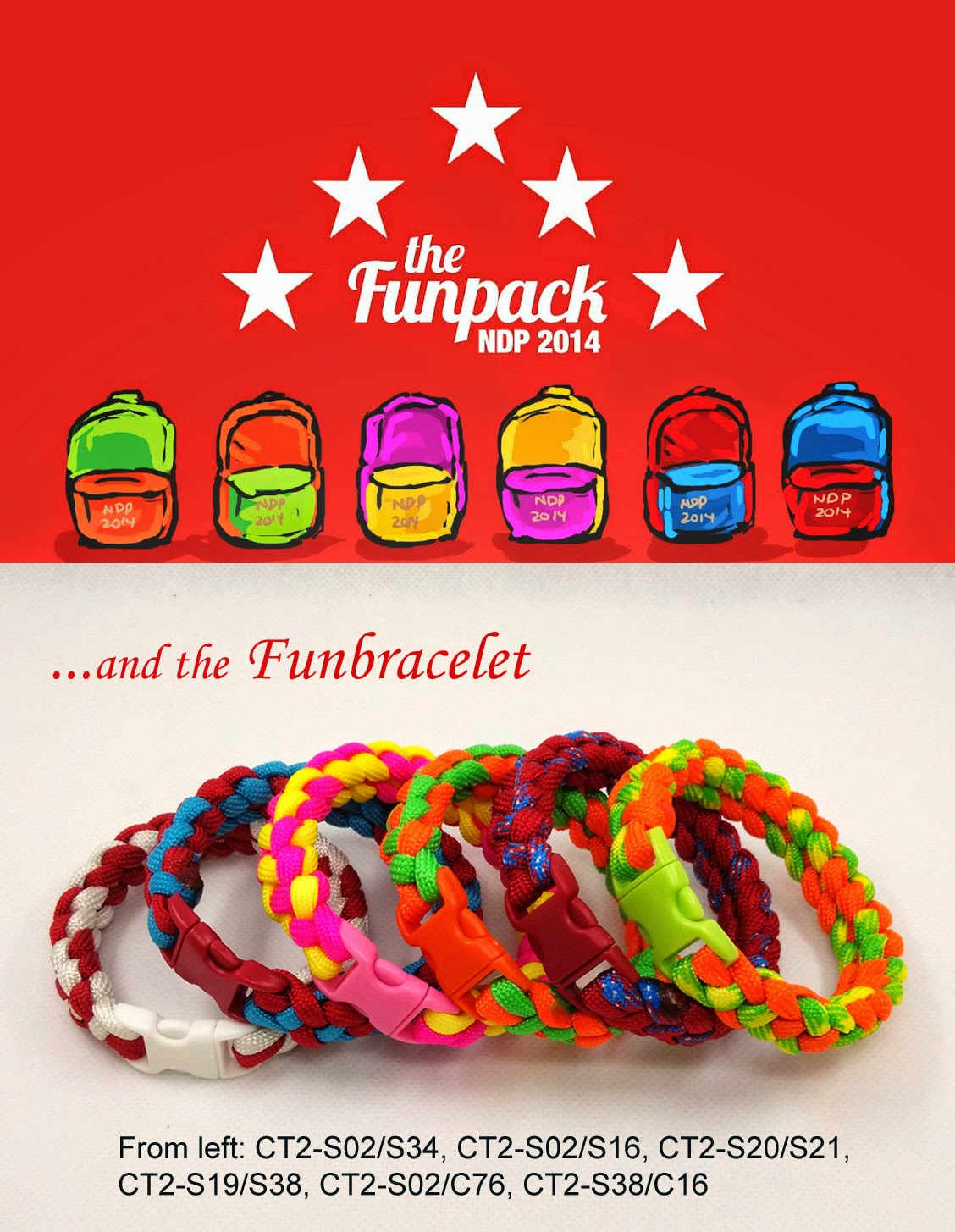 Fun Bracelets… for NDP 2014