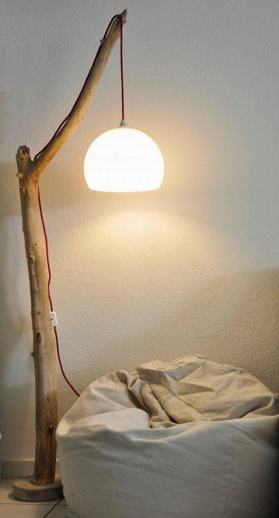 Lamparas con Madera Reciclada, Diseño Ecoresponsable con Madera a la Deriva