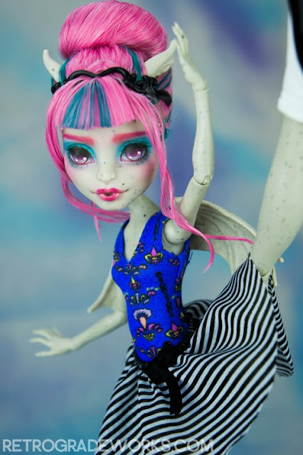 monster high custom repaint rochelle goyle