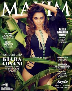 Kiara Advani in Black One Piece Bikini for Maxim India Feb 2015