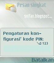Pengaturan konfigurasi kode PIN