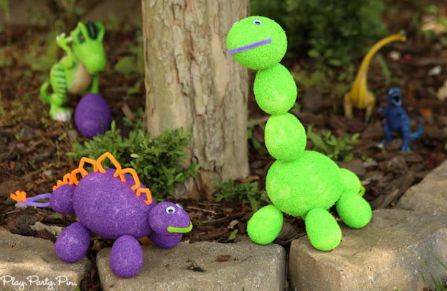 Jurassic World Birthday Party Ideas; foam shapes dinosaurs