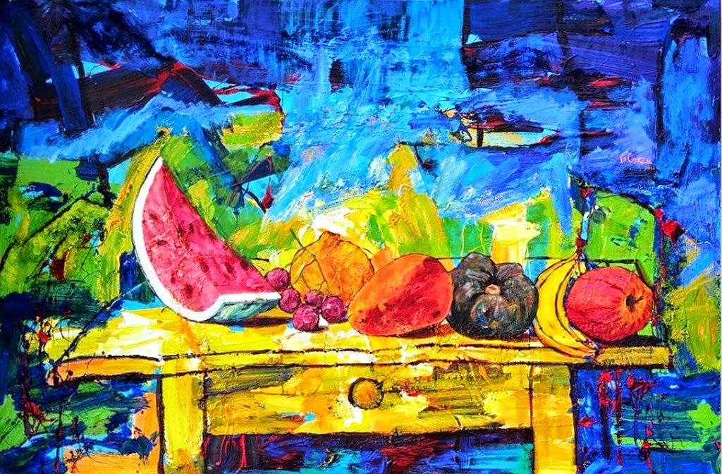 Pintura moderna y fotograf a art stica pintura moderna - Pinturas bodegones modernos ...