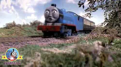 Thomas and friends big express Gordon the train never whistles and sneezes.along the track like that