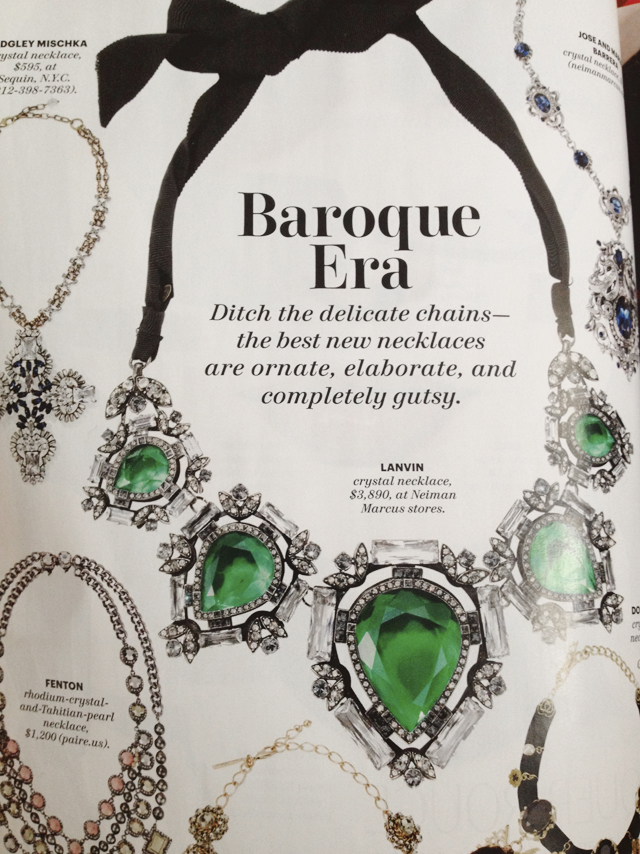 Baroque style necklace by Lanvin