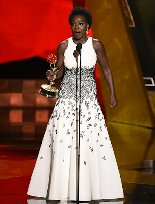 Viola Davis wins Best Actress Emmy becoming 1st African American to win it.