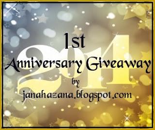 1st Anniversary Giveaway by Janahazana.blogspot.com