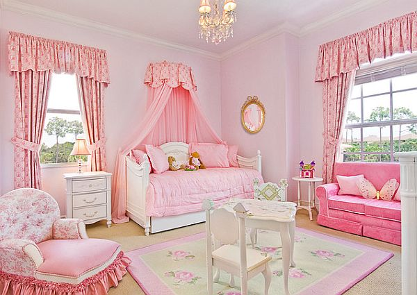 Decoracion Baño Rosado:Little Girls Pink Room Ideas