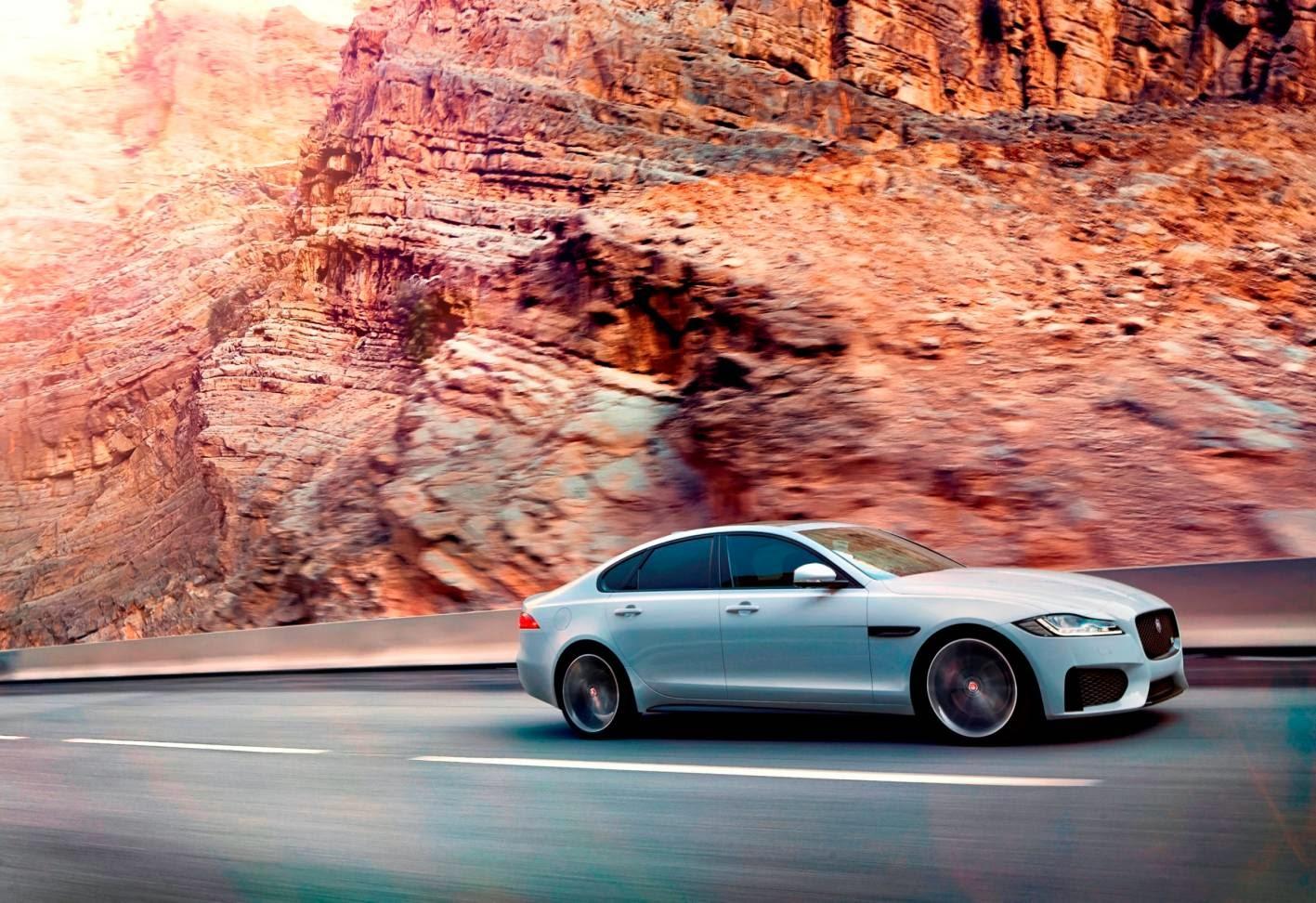 New Jaguar XF moving