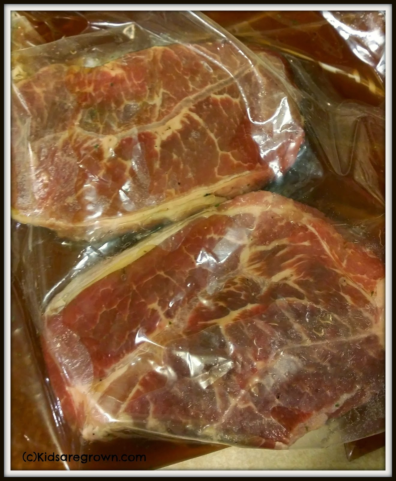 Marinating-the-steaks