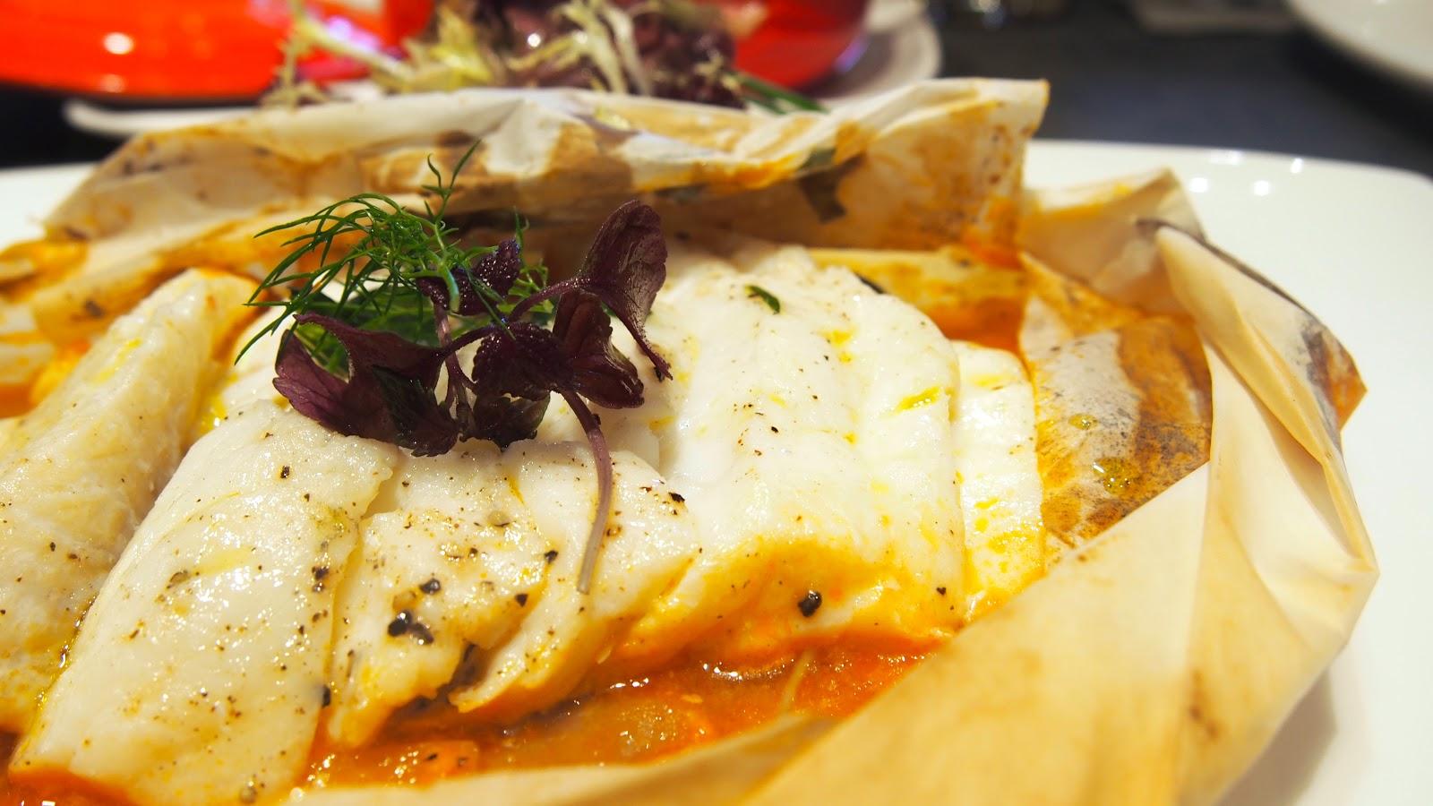 agnes b le pain grille fish en papillote