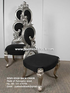 Supplier Indonesia classic furniture supplier wooden classic chair supplier silver painted chair supplier furniture classic silver painted jepara