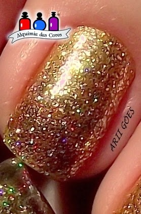 Color club, glitter, dourado
