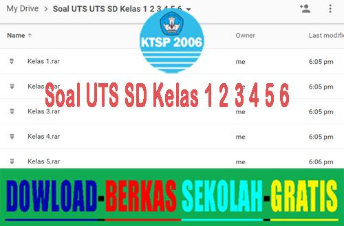 Soal UTS SD Terbaru Semester 1 dan 2 Tahun 2015