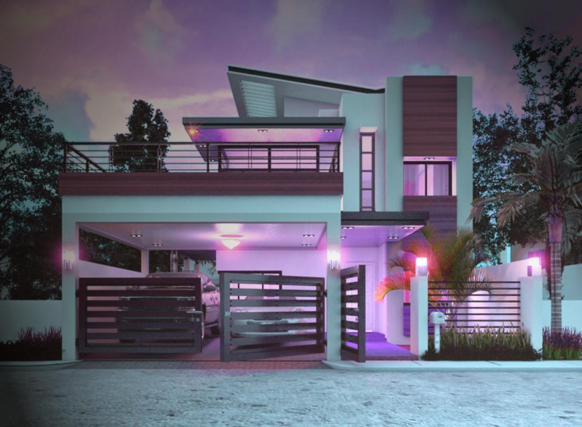 tampak depan gambar rumah minimalis modern 2 lantai