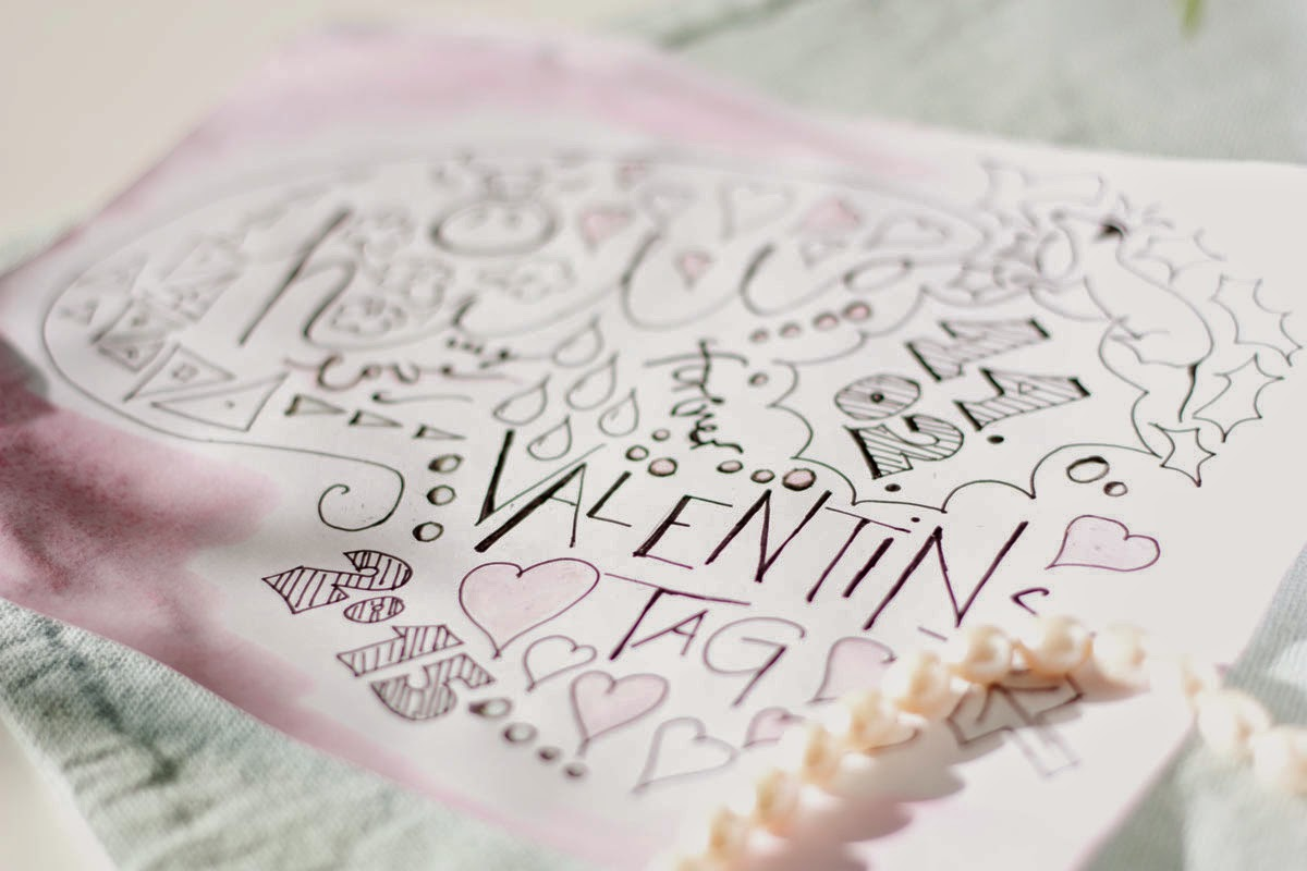 Valentinstag Sketchnote