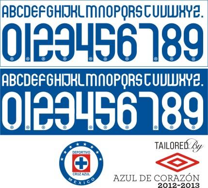 adc5bfb24dc Cruz Azul 2012 tipografia
