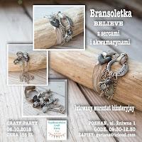Craft Party -Poznań - BRANSOLETKA z sercami i akwamarynami