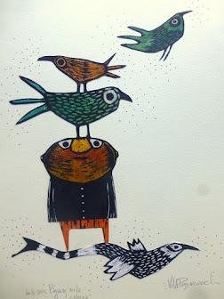 de la serie, pájaros en la cabeza