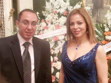مع سوزان نجم الدين في مهرجان دمشق السينمائي 2010