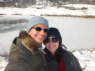 lago congelado em aspen, colorado