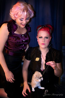 Pin-ups, pink hair and kitties!