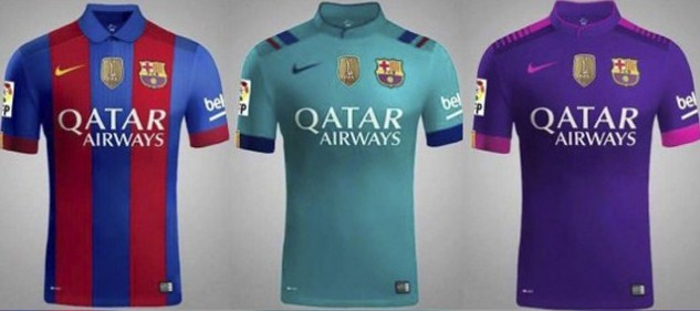 Barcelona jersey home and away