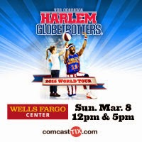 Family 4 Pack of Tickets to see The Harlem Globetrotters at the Wells Fargo Center in Philadelphia, PA