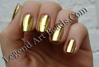 Nail polish of Gold