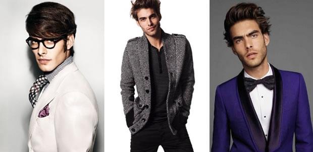 Jon Kortajarena em campanhas para Tom Ford, H&M e Roberto Cavalli (Foto: Divulgação)