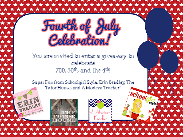 4th of July Giveaway A Modern Teacher