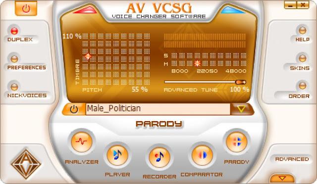 برنامج تغيير الصوت Av voice changer
