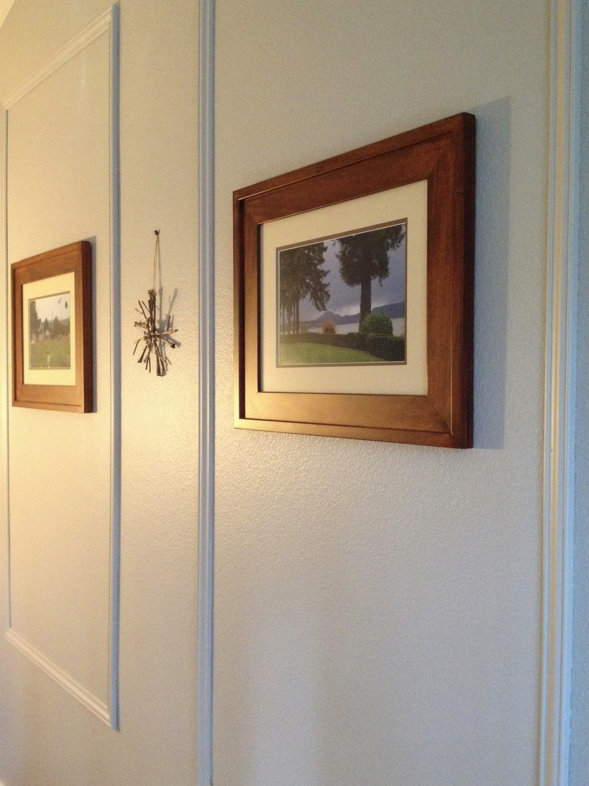 DIY Feature Wall   Picture Frame Molding In The Master Bedroom.