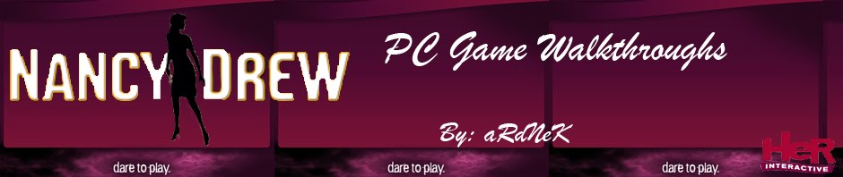 Nancy Drew PC Game Walkthroughs by aRdNeK