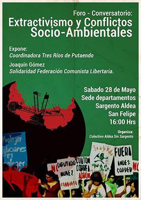 SAN FELIPE:  FORO CONVERSATORIO: EXTRACTIVISMO Y CONFLICTOS SOCIO AMBIENTALES