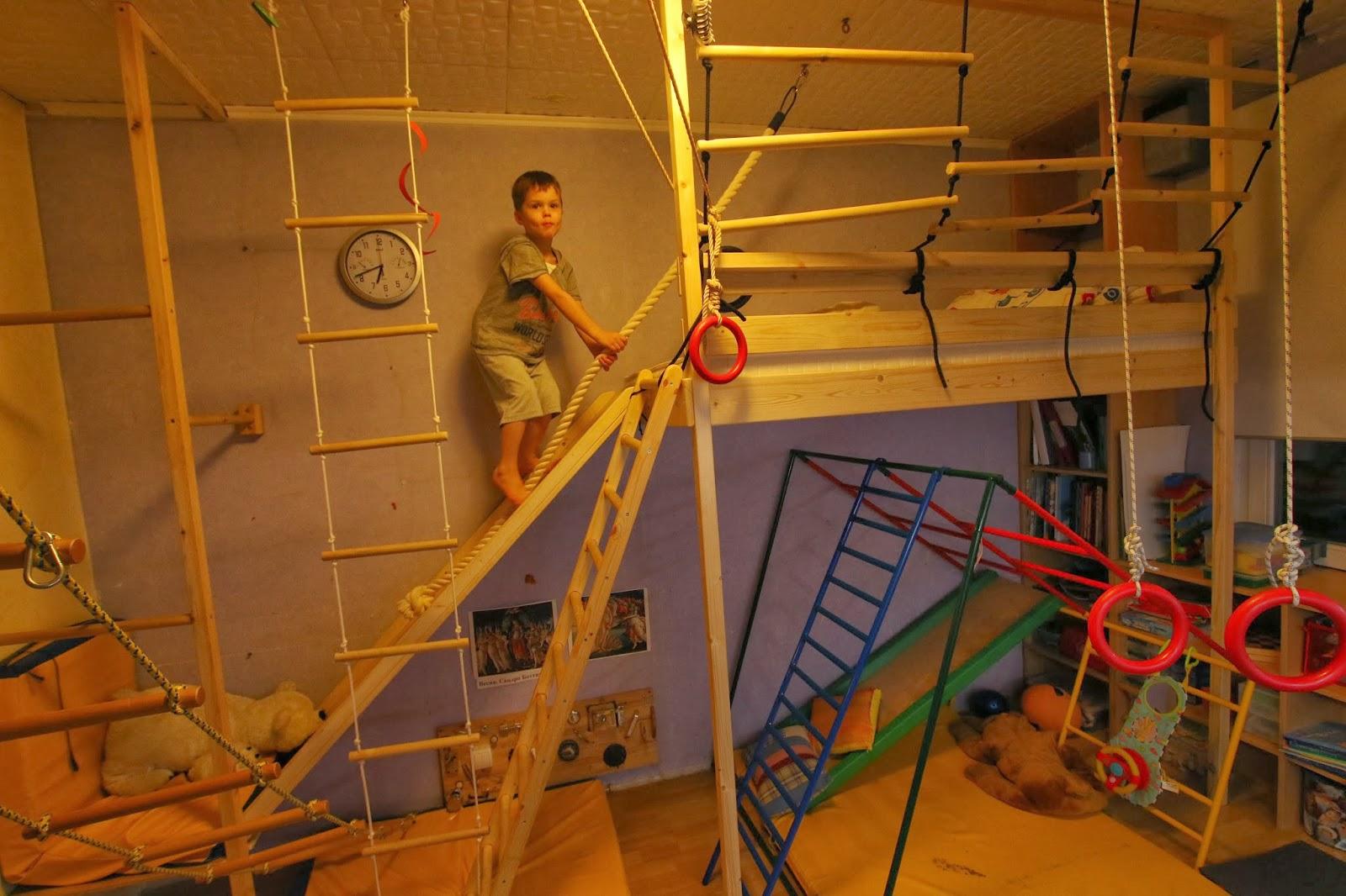 Детская спортивная комната своими руками