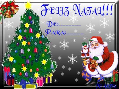 Cartões de Natal 2012 para Imprirmir