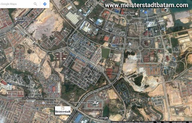 Peta lokasi Meisterstadt Batam di Google Map