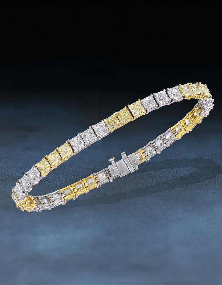 Jacob & Co Tennis Bracelets & Necklace – Champagne Gem