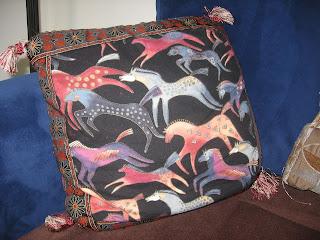 Hand-sewn pillow