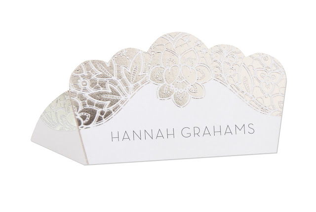 silver place card