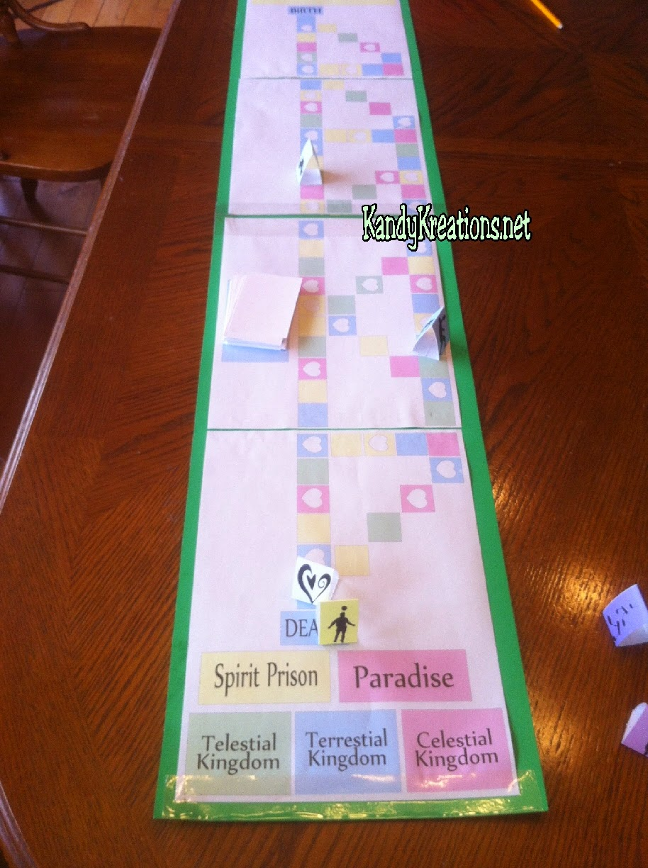 Judgement in the Plan of Salvation Board Game. Free Printable board game and ideas to teach for FHE or YM/YW activity.