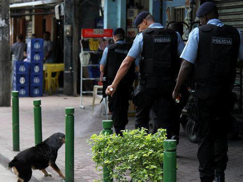 Policial espirra spay de pimenta em cachorro