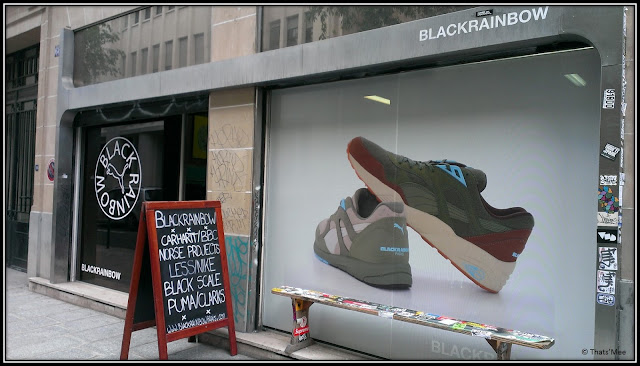 Black Rainbow Paris streetwear 68 rue des Archives sneakers shop devanture