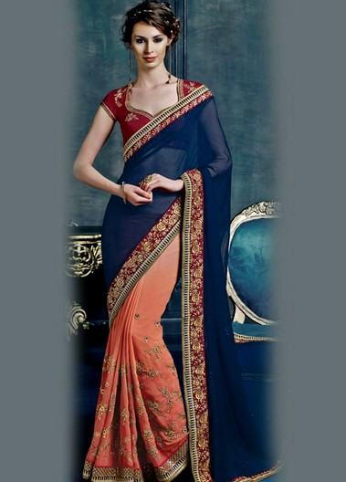 Heroine Romantic Saree Apparels For Women