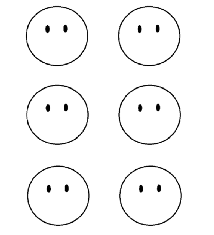 Gargantuan image in printable emotion faces