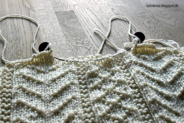 Guensey strik cardigan strukturstrik