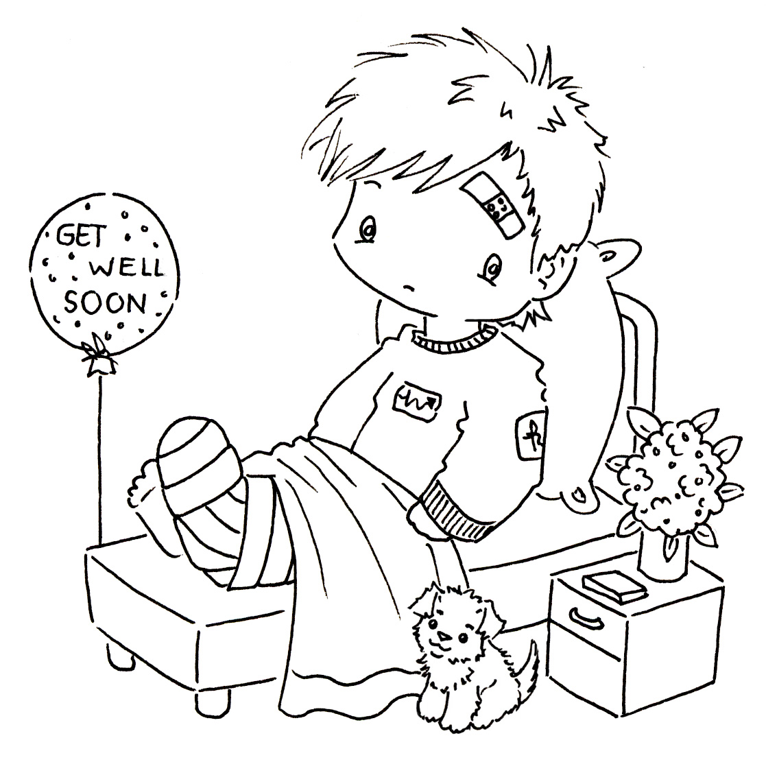kids get well coloring pages - photo#36