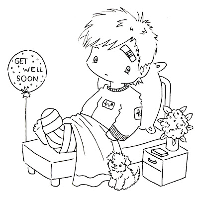 Get Well Soon Coloring Pages for Boys